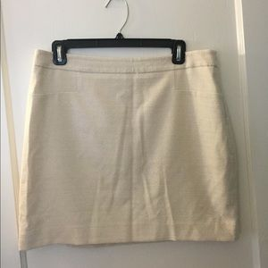 The Limited Shiny Beige Pencil Skirt!